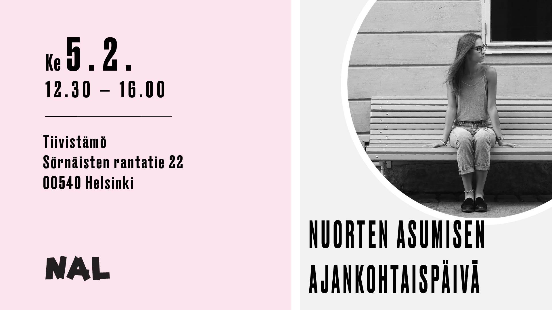 Asumisen ajankohtaispäivä keskiviikkona 5.2. 12.30-16.00 Tiivistämössä osoitteessa Sörnäisten rantatie 22